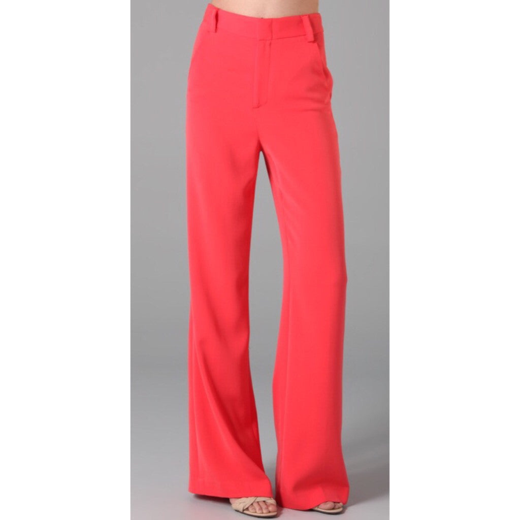 Alice + Olivia Coral High Waist Wide Leg Pants (2)