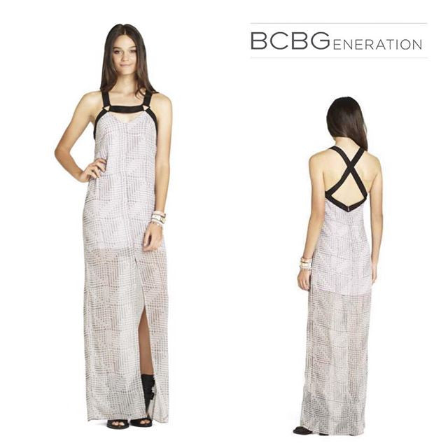 BCBG Brand New Sheer Maxi Dress (M)