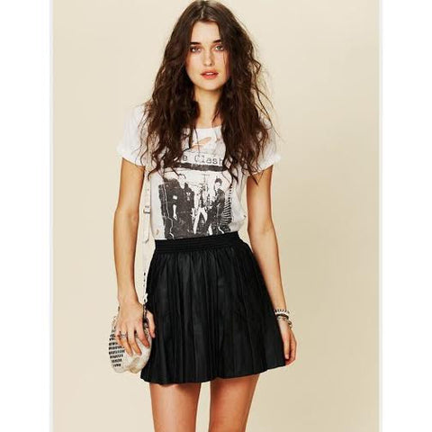 Free People Faux Leather Skirt (XS/S)