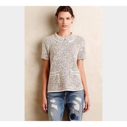 Anthropologie Layered Tweed Top (M)