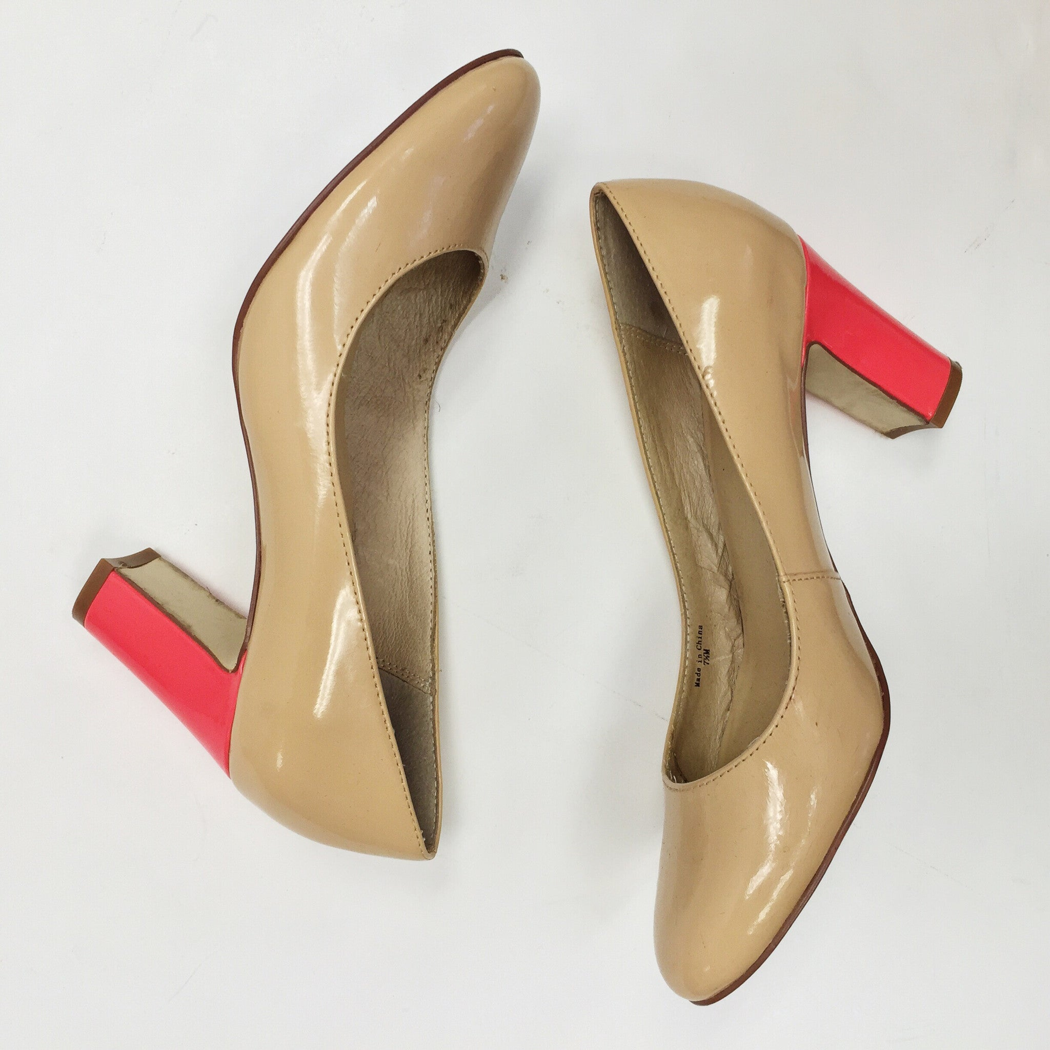 1d574bf09d8f Kate Spade Nude Patent   Coral Heels (7.5) – Bethany s Style Aisle