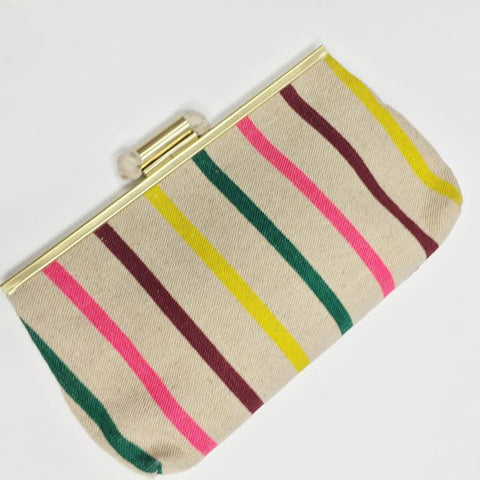 J.Crew Summer Striped Clutch