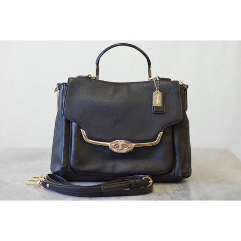 Coach Black Leather Madison Bag