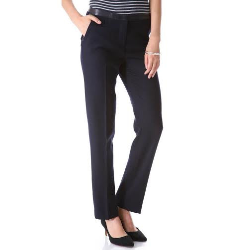 Tory Burch Navy Blue Wool Pants (0)