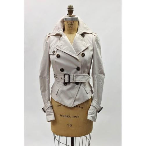 BCBG Maxazria Cropped Trench Jacket (S)