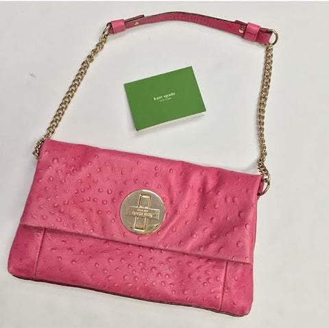 Kate Spade Pink Fold Over Clutch