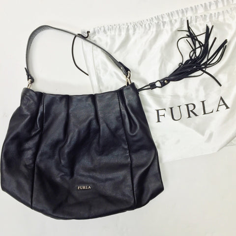 Furla Leather Tassel Bag