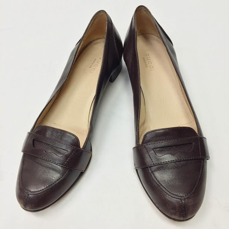Gucci Brown Leather Loafers (8)