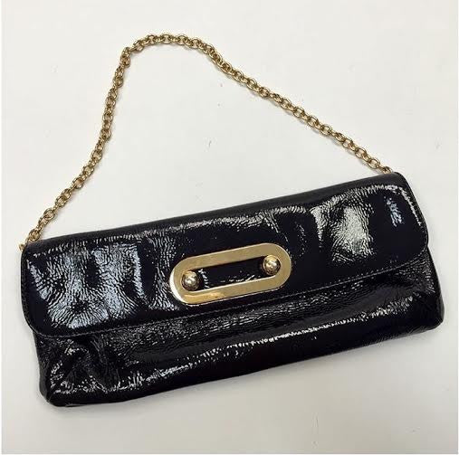 HOBO International Black Patent Clutch