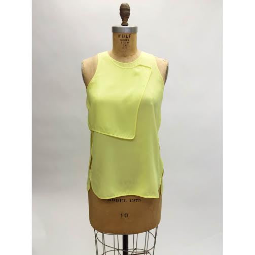 Alexander Wang Yellow Fish-Eye Blouse (Size 2)