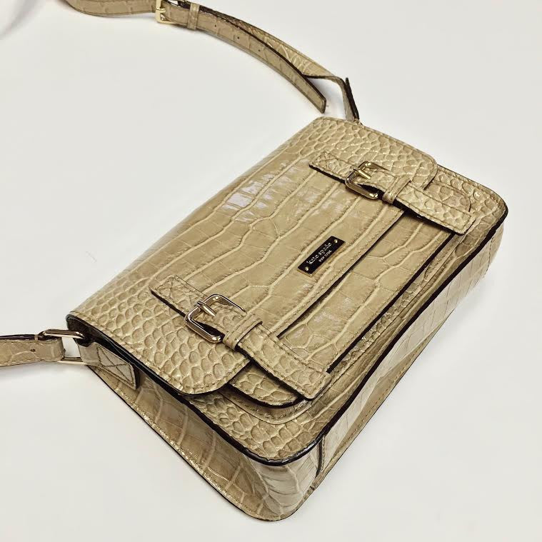 Kate Spade Alligator Embossed Cross Body Bag