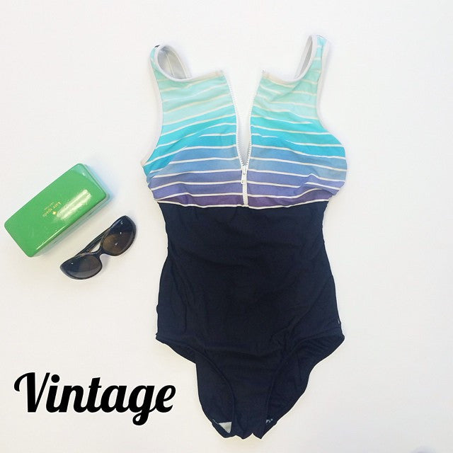 Ombre Sip-Up Swimsuit