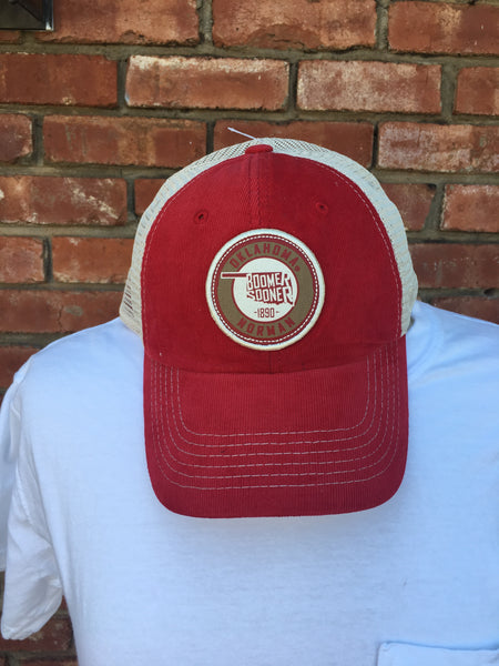 Cream OU State Patch Hat