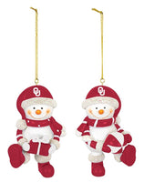Oklahoma Resin Snowman Ornament