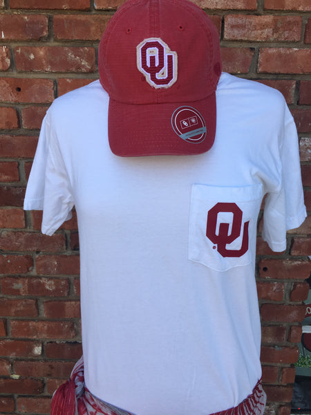 OU Pocket T-Shirt—White