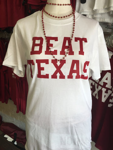 BEAT TEXAS-WHITE
