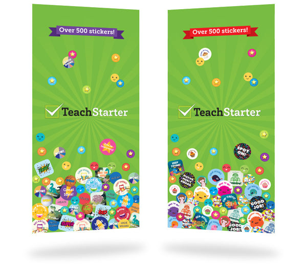 Retro Classroom Theme Pack with Sticker Books