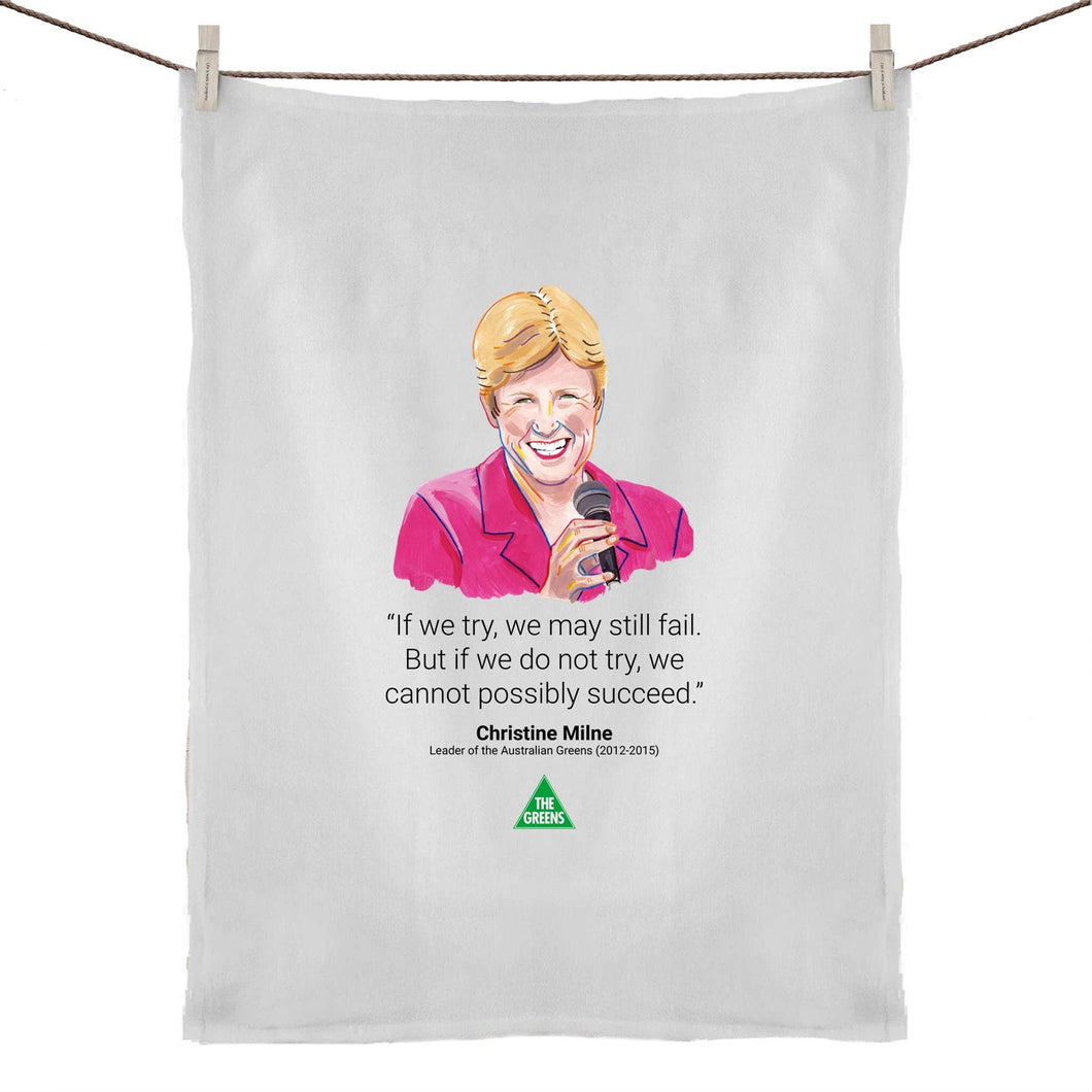 Christine Milne Legends Tea Towel