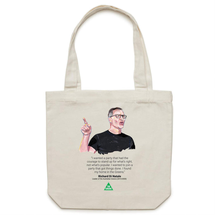 Richard Di Natale Commemorative Canvas Tote Bag