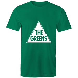 Mens t-shirt with our Classic Greens Logo - green