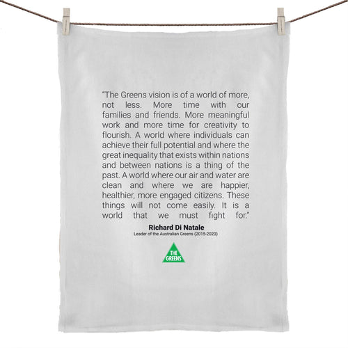 Richard Di Natale Commemorative Tea Towel – Maiden Speech