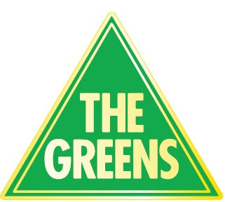 Greens Triangle Lapel Pin