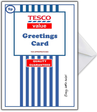 Supermarket Spoof Card - TESCO VALUE BASIC