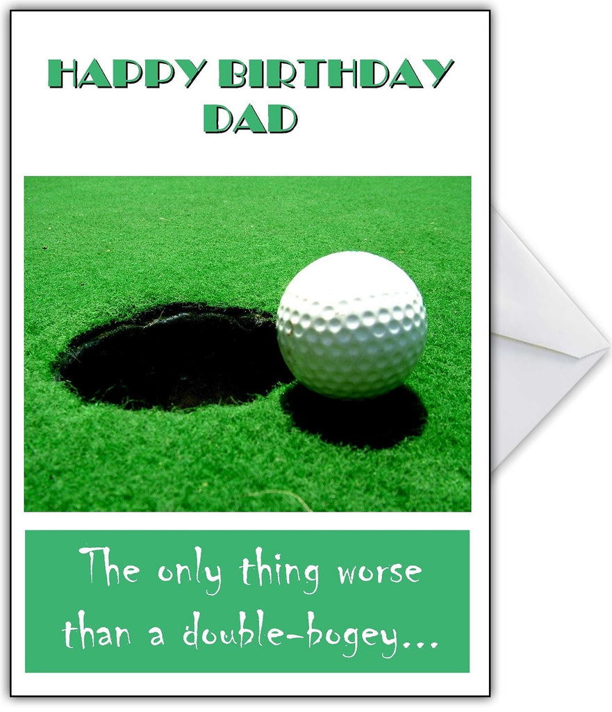 """The only thing worse...is another BLEEPING Golf card!"" Rude Birthday card for a golfer! - That Card Shop"