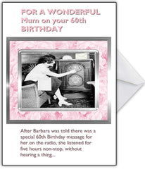 """There's a Radio Message for you"" Vintage Photo Humour Card - That Card Shop"