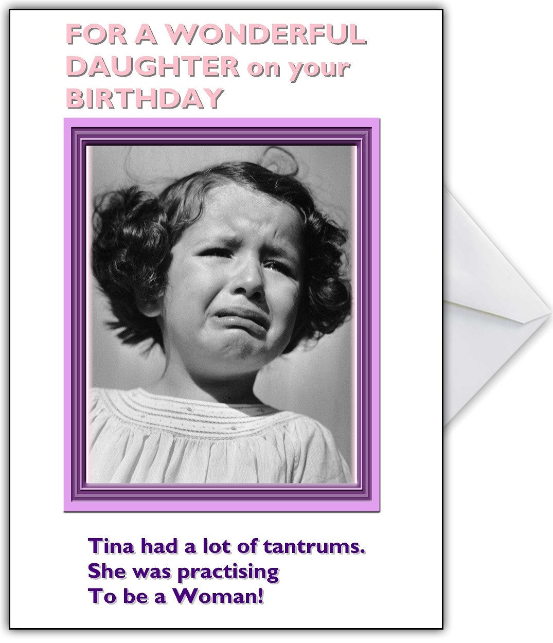 Vintage Photo Humour Birthday Card