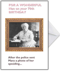 "Personalised Vintage Card ""Nan is Cleverer than she looks!"" - That Card Shop"
