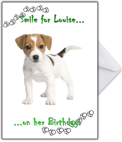 """Give us a smile!!"" Funny Jack Russell Terrier Card"