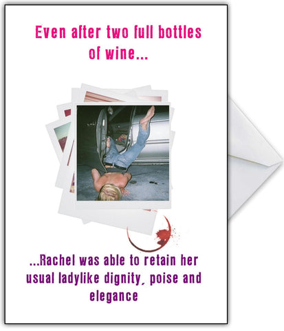 Keep Your Dignity While Drinking! Photo Humour Greetings Card