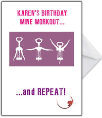 Personalised Funny 'Wine Aerobics' Birthday Card - That Card Shop