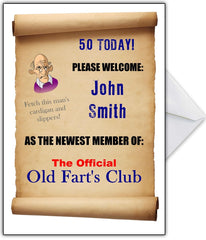 "Funny Old Fart's Birthday Card - ""You are officially a member..."" - That Card Shop"
