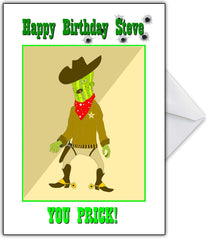 "Rude Birthday Card -  ""YOU PRICK!"" - That Card Shop"