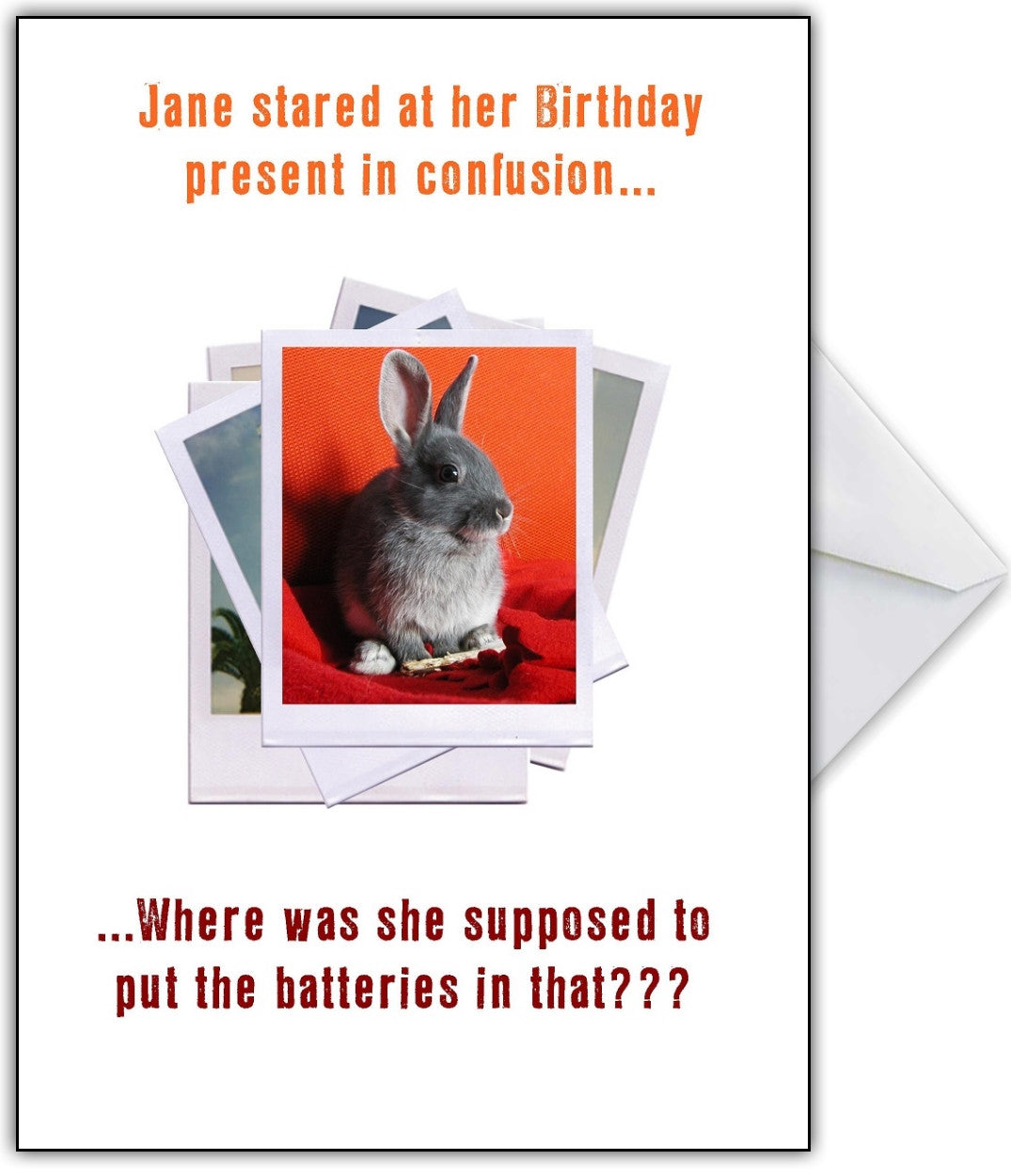 This Isnt A Rampant Rabbit Hilarious Photo Humour Birthday Card