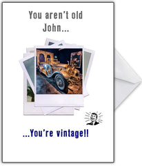 "Classic Rolls Royce Birthday Card ""You're Not Old...Just Vintage!"" - That Card Shop"