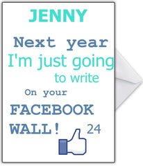 Personalised Rude Facebook Card Joke for a close friend - That Card Shop