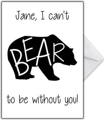 "Joke Miss / Love You Card ""Can't Bear it!"" - That Card Shop"