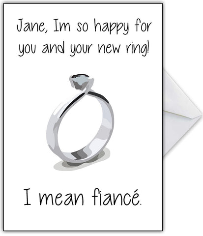 "Personalised Engagement Card - ""I Love your ring"""