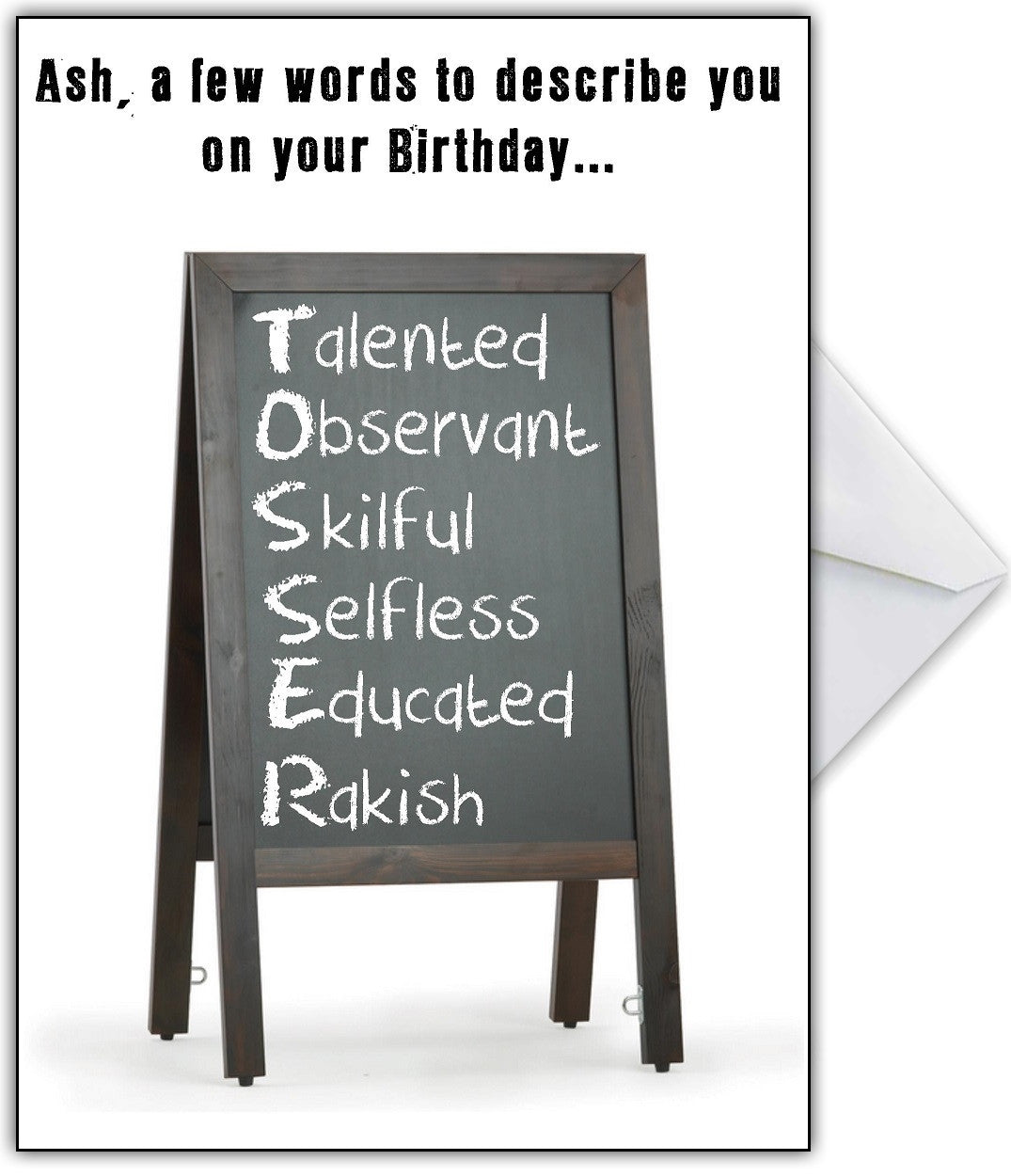 Rude Birthday Card Hey There S An Insult In There