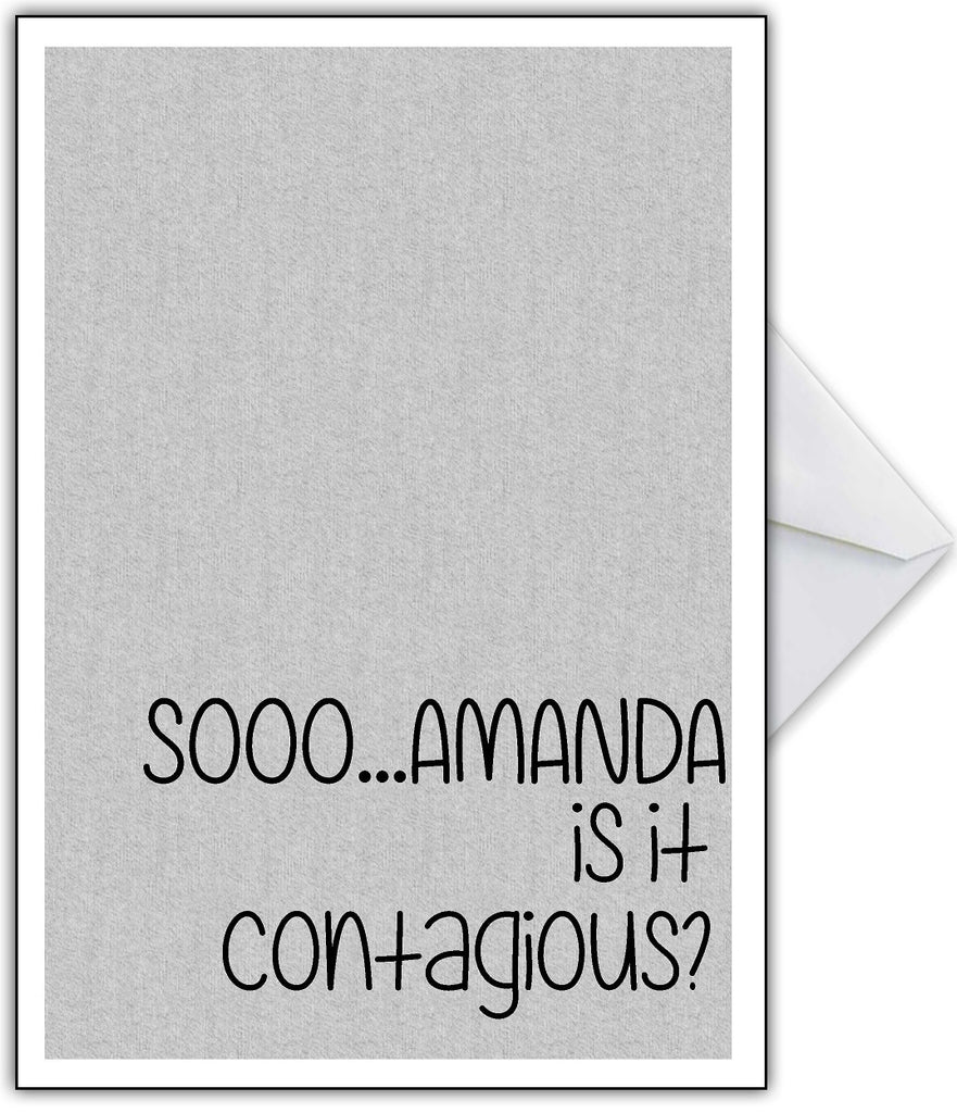 "Rude Get Well Soon Card ""Is it Contagious?"" - That Card Shop"