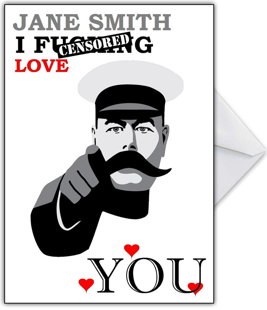 "Rude Greetings Card for Boyfriend or Girlfriend ""I fu&*ing Love You!"" - That Card Shop"