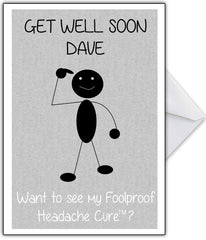 "Get Well Soon Card ""I have a magic headache cure.."" - That Card Shop"