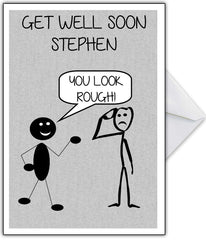 """You Look Rough!"" Funny Get Well Soon Card - That Card Shop"