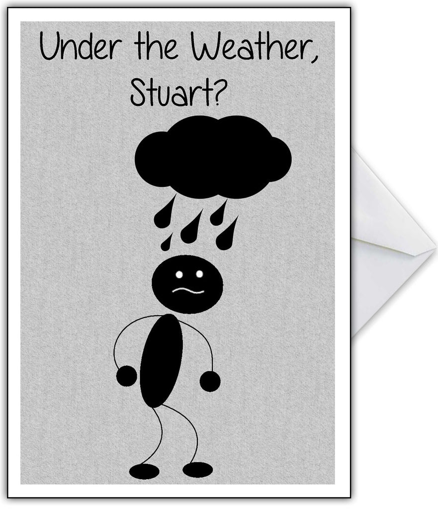 "Funny Get Well Soon Card ""Under the Weather?"" - That Card Shop"