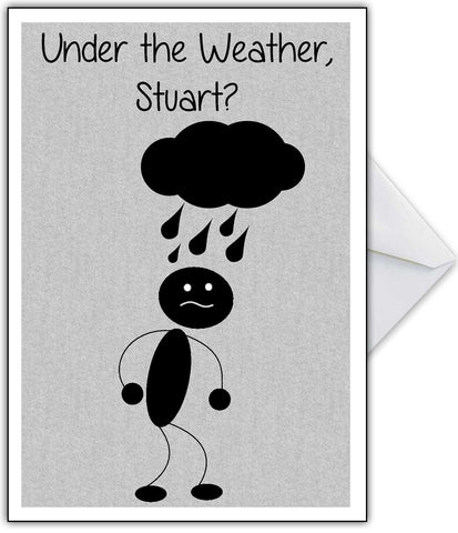 "Funny Get Well Soon Card ""Under the Weather?"""