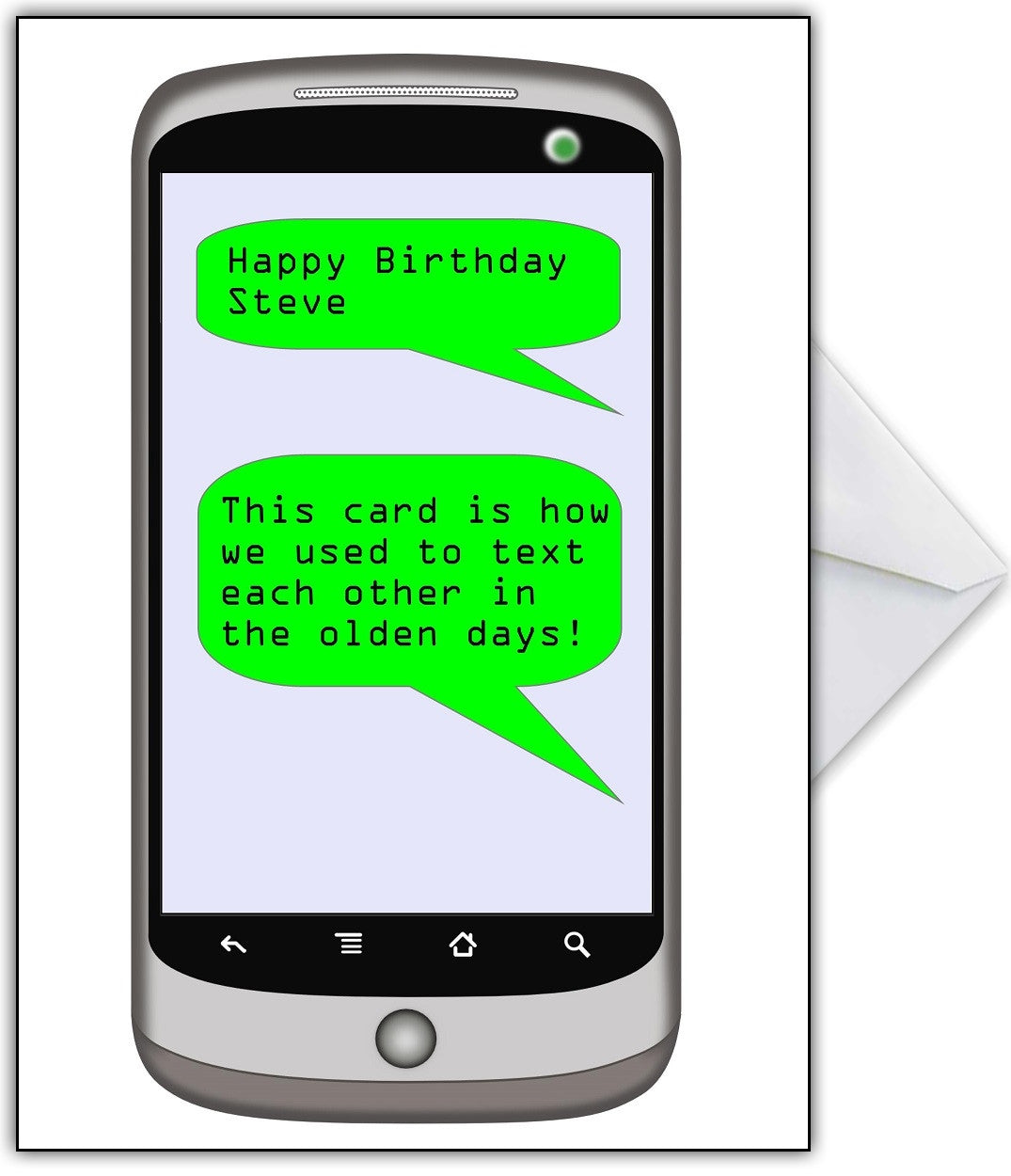 Funny Birthday Card This Is The Old Fashioned Way Of Texting