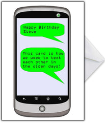 "Funny Birthday Card ""This is the old-fashioned way of texting!"" - That Card Shop"